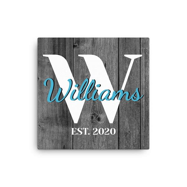 personalized established canvas
